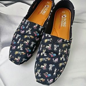 BOBS 'Dogs' Canvas Flats